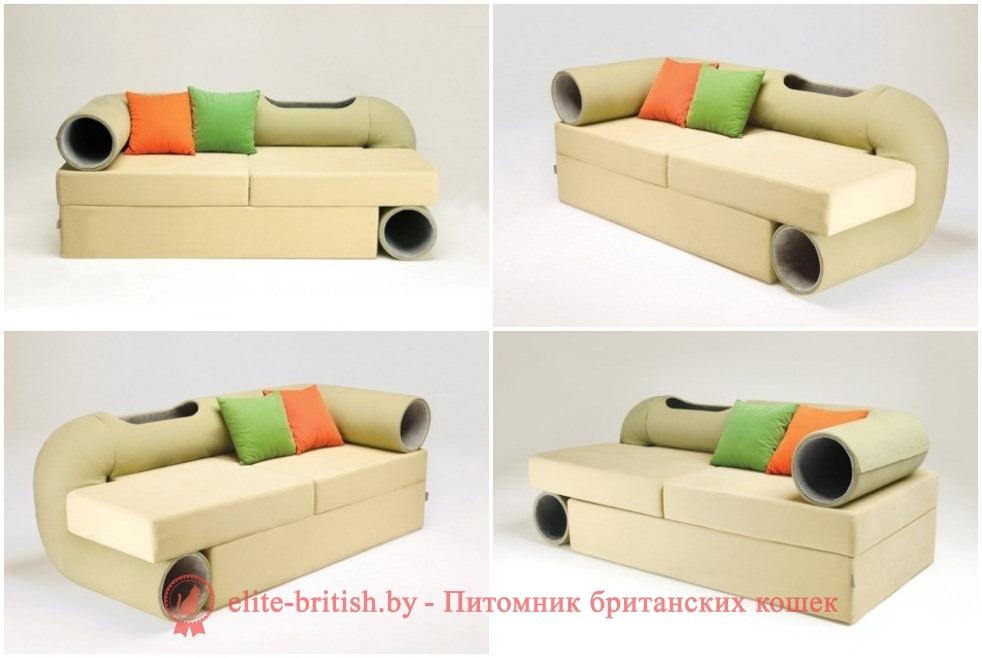 туннель для кота, диван с тоннелем для кота, тоннель для кошек, туннель для кошек своими руками